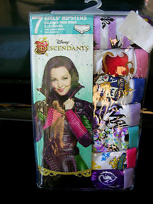 "//(*_*)\ DISNEY  ""DESCENDANTS"" 7 Pr. Pkg.GIRLS UNDERPANTS/HIPSTERS  SIZE 10 NWT"