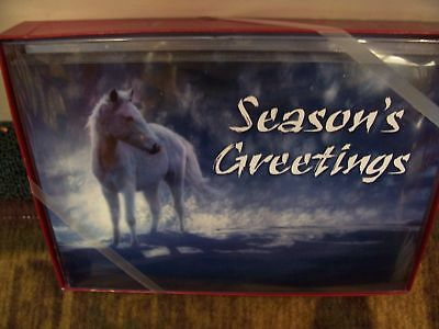 Leanin Tree Horse In Snow Christmas Card Set New !!