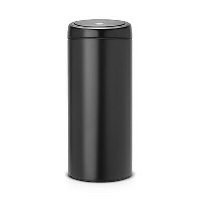 Brabantia Plastic 30L Touch Bin Matt Black NEW