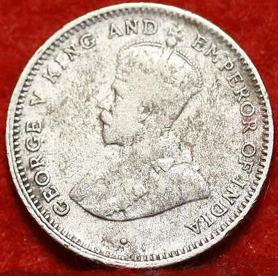 1922 Ceylon 25 Cents Silver Foreign Coin Free S/H