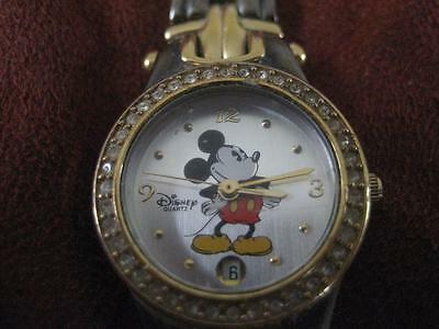 Womens Disney Time Works Quartz Mickey Mouse Watch EUC