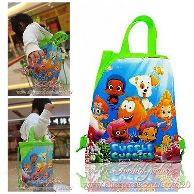 1PCS Bubble Guppies Children Drawstring Backpack School Shopping Party Bags Gift