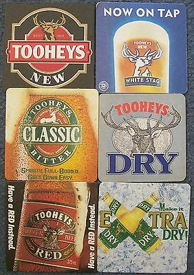 6 Collectable Tooheys beer coasters - various Tooheys beers