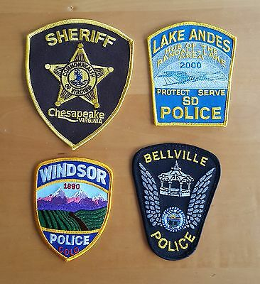 USA - 4 x Different Police Patches - 2