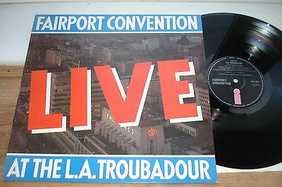 Fairport Convention Live At The L.A Troubador 1ST PRESS NM/EX NM VINYL!!  UK LP
