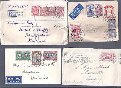 Uk Great Britain And Colonies 4 Classic Covers Australia Canada India