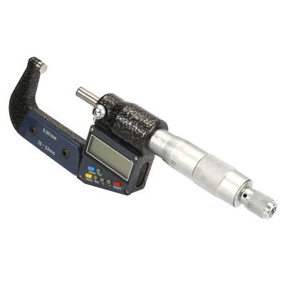 1-inch - 2-inch /25mm-50mm Digital Outside Micrometer, Electronic LCD Display