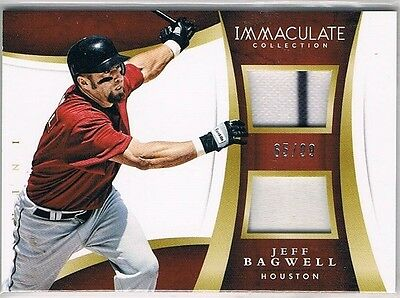 2015 Immaculate Collection Immaculate Duals Memorabilia #6 Jeff Bagwell #65/99