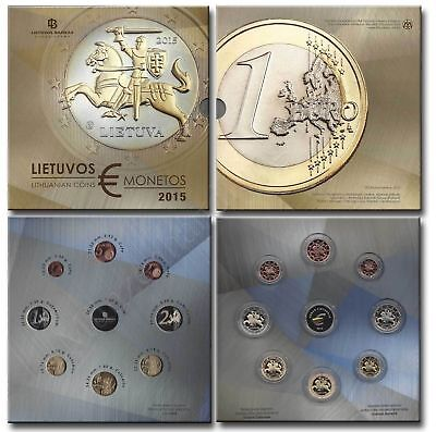 Lithuania 2015 KMS 1 Cent- First Euro coin set, PF proof
