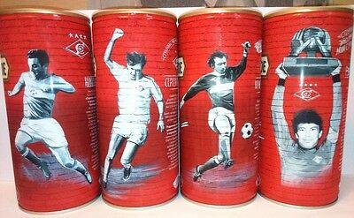 Trehgornoe 1 liter 4 beer cans FC Spartak Limited Edition The stars of Spartak