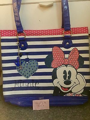 Mini Mouse Striped Beach Bag Used Once Disney Store nautical cute summer