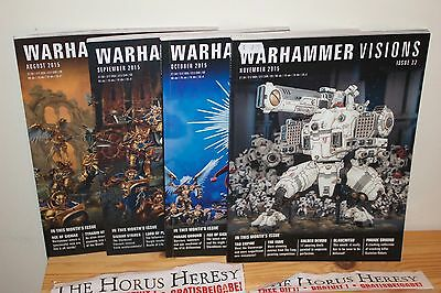 Warhammer Visions issues 19,20,21,22 4 issues