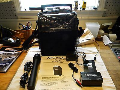 Amplivox  Mity-Vox Wireless PA System SW212  Complete. Buy nothing else.