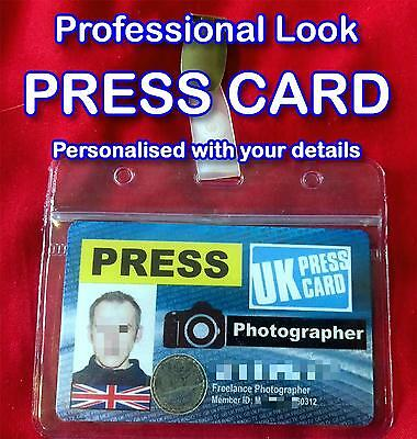 Professional Look PRESS CARD 2017 edition, personalised with your details