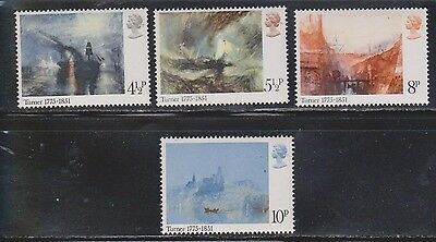 Great Britain Scott # 736-9 Mint Never Hinged  - Paintings By Joseph Turner