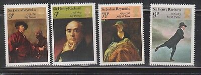 Great Britain Scott # 697-700 Mint Never Hinged  Paintings By Reynolds & Raeburn