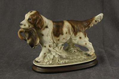 Vintage Ceramic Animal SPRINGER SPANIEL Figurine Duck Hunting Dog Japan UCGC