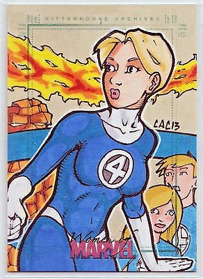 Women of Marvel Series 2 Fantastic Four Sketch Card All 5 Characters!