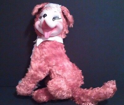 Rushton Star Creation Rubber Face Fox Dog Plush Vintage With Body Tag Attached