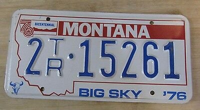 1976 Montana Bicentennial License Plate Expired 2 15261