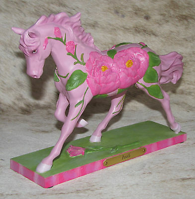 TRAIL OF PAINTED PONIES Petals 1E/2169 ~ Pretty And Pink Peonies Horse ~