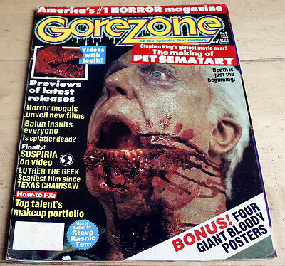 Gorezone 4 (1989) complete with all 4 posters