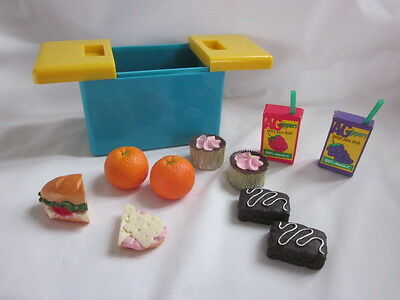 American Girl Picnic Goodies Lunch for Two Food Oranges Drink Sandwich Cooler +