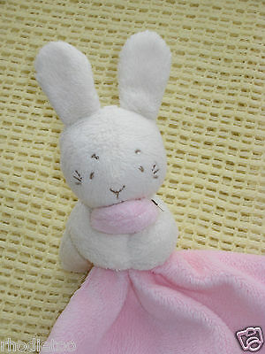 Pink Bunny Comforter Soother Blanket M&S Toy Rabbit With Love Plush Baby Blankie