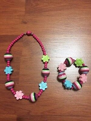Gymboree SMART AND SWEET Necklace and Bracelet Set VG