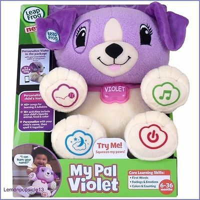 Leapfrog My Pal Violet Interactive Sound Light Talking Puppy Teddy Toy Dog