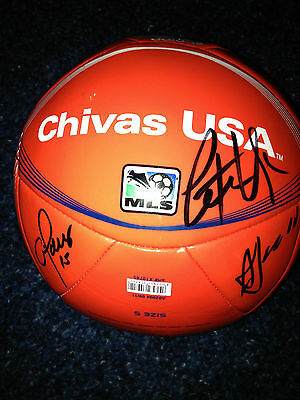 2012 Chivas USA 11 x Team Signed Autographed 2012 MLS Soccer Ball COA