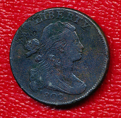 1802 Draped Bust Large Cent **highly Collectible Early Copper** Free Shipping!