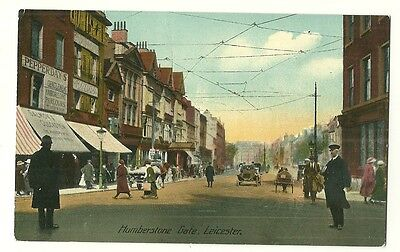 Leicester - a colour-added, photographic postcard of Humberstone Gate