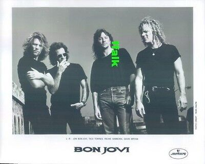 Press Photo: Jon BON JOVI 8x10 B&W