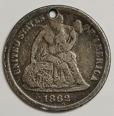 1862 Love Token. Liberty Seated Dime.  Civil War Era.  108669