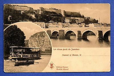 Jambes Bridge over the Muese River, Namur, Belgium Postcard