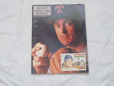 Nolan Ryan Dave Justice Beckett Baseball Card Monthly December 1990 Magazine
