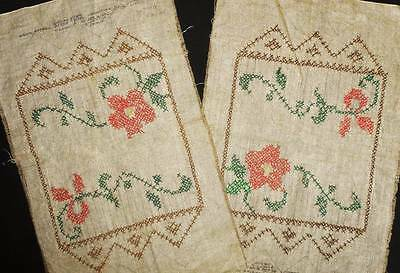Antique Vtg Linen Embroidered Hand Embroidery Doilie Doily Table Scarf Lot Set