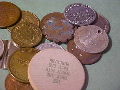 Lot Of 17 Pcs. Tokens And Foreign Coins