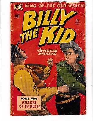 BILLY THE KID #9 (FR/GD) Kim of the Old West! Toby Press 1949 Western