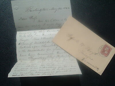 1862 EARLY MEDICAL Operations,Surgery,Surgical DETAILED Burlington,Vt.,letter!!!