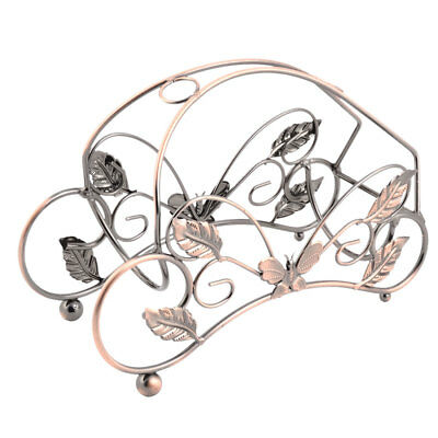 Home Kitchen Metal Butterfly Decor Wine Bottle Rack Display Holder Copper Tone
