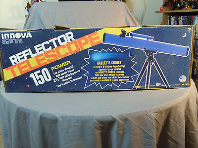 Vintage 1985 Innova Reflector Telescope In Box Complete 150 Polaris Power
