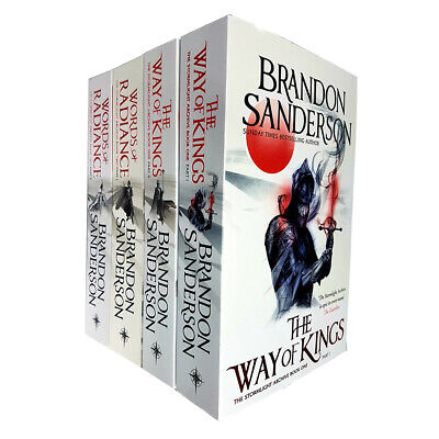 Stormlight Archive Series 4 Books Collection Set By Brandon Sanderson Words of R