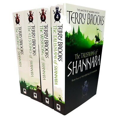 Terry Brooks Collection Shannara Chronicles & Heritage of Shannara 4 Books Set