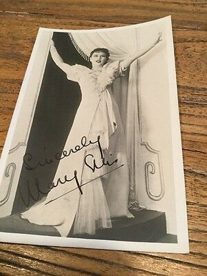 Old Photo Postcard Of A Actress  Signed