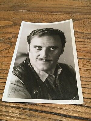 Old Photo Postcard Of A Actor . Signed......
