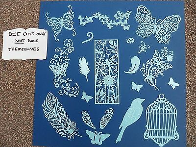 Die Cuts (D84), Birds, Butterflies, Dragonflies, Feathers,birdcage, Cardmaking
