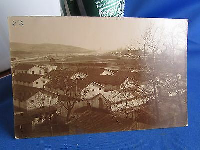 cpa photo salonique en 1917 campement militaire caserne  thessalonique