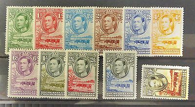 BECHUANALAND 1938 G.VI to 10/- SG118 to 128 Mounted Mint SEE BELOW NB962